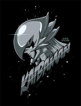 正義の味方カイバーマンTシャツ BLACK
